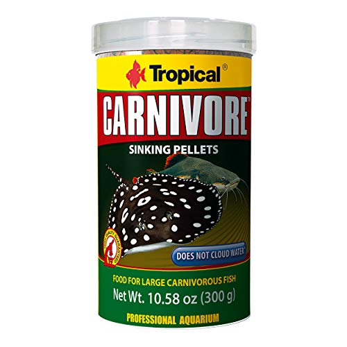 - Tropical USA Carnivore Sinking Pellets Fish Food Tin, 300g