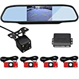 CAR ROVER DIY Car Rear View Night Vision Camera With 4.3 Inch Vidio Monitor With Visible 4 13mm White Sensors...