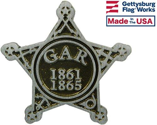 - Aluminum Grave Marker G.A.R. (Union Civil War), Cemetery Memorial Flag Holder, Veteran Plaque, Made in USA