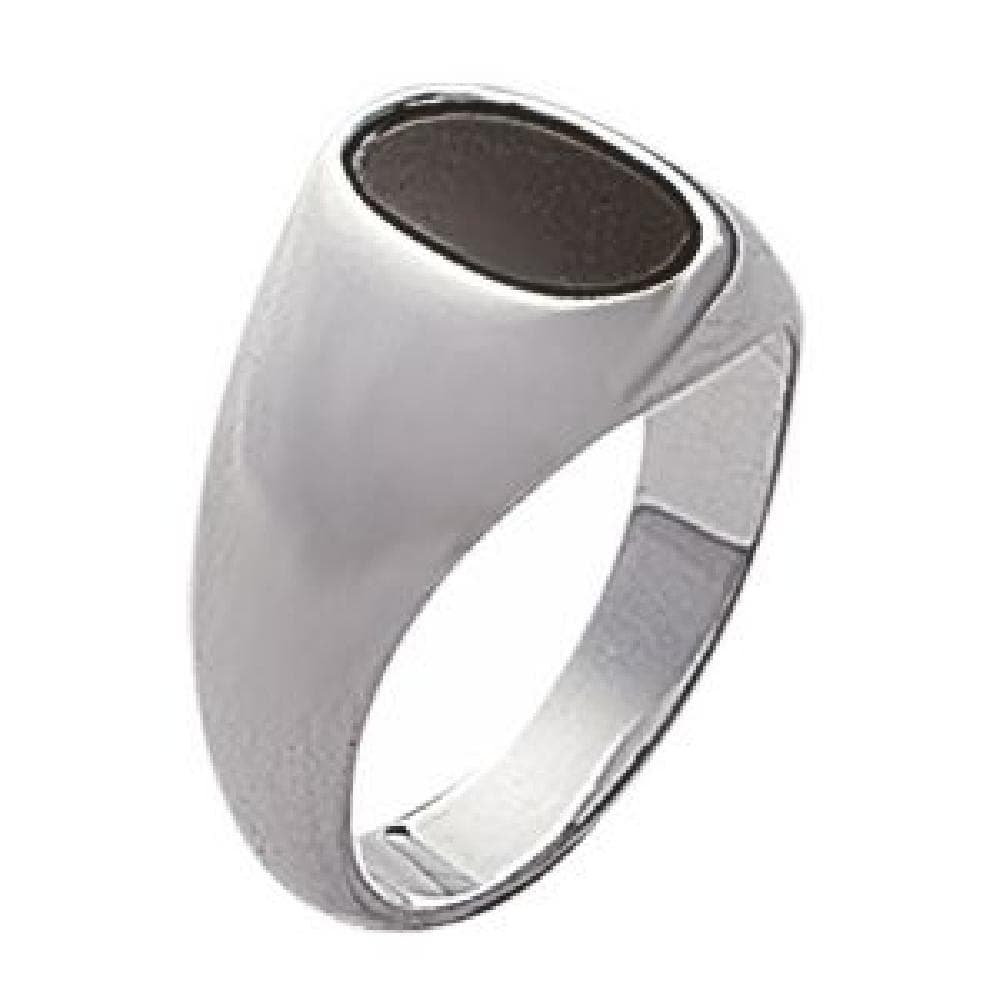 Mens 925 Sterling Silver Onyx Signet Ring So Chic Jewels