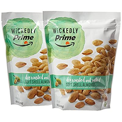 Wickedly Prime Soft Shell Almonds, Dry Roasted & Salted, 16 Ounce (1 Pound) (Pack of 2) from Amazon