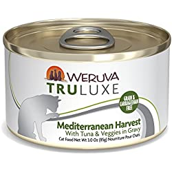 Weruva Truluxe Cat Food, Mediterranean Harvest With Tuna Whole Meat & Veggies In Gravy, 3Oz (Pack Of 24)