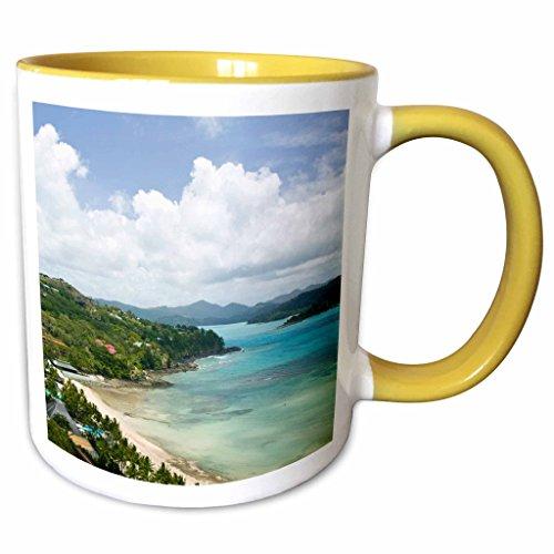3dRose Danita Delimont - Coastlines - Australia, Whitsunday, Hamilton Island coastline-AU01 WBI0551 - Walter Bibikow - 11oz Two-Tone Yellow Mug (mug_71265_8) - Hamilton Island Light