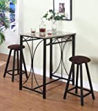 3 Pc Marble Laminate Counter Height Table & 2 Stools