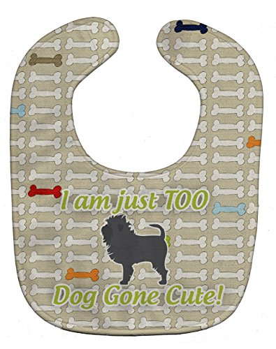 (Caroline's Treasures Dog Gone Cute Baby Bib, Affenpinscher, Large)