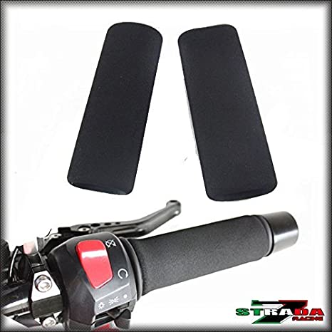 Strada 7 Motorcycle Foam Grip Covers fits Kawasaki Ninja 300 Ninja 650 ER-6N