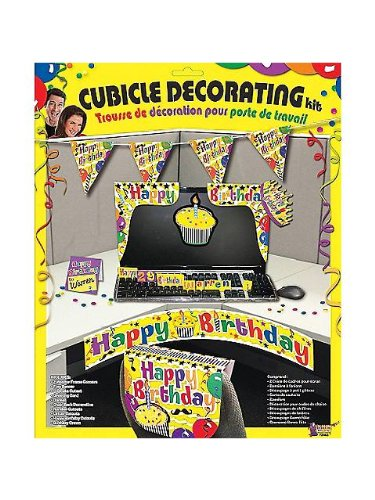 Happy Birthday Cubicle Decorating Kit (Each) (Cubicle Birthday Decorations)