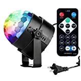 COIDEA New Generation Karaoke Machine Party Lights 3W Disco Ball Lights Dj Light Portable Stage Light 7 Colors Sound Activated Strobe Light for Festival Bar Club Party Outdoor and More(with Remote)
