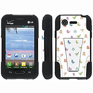 [ArmorXtreme] Hybrid Armor View-Stand Design Image Protect Case (Birds) for LG Optimus Zone 2 VS415PP / L34C Fuel