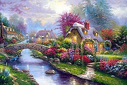 Needle Arts & Crafts Imported From Abroad 5d Diy Diamond Embroidery Blue Flowers Cross Stitch Full Diamond Landcape Diamond Painting Rhinestones Christmas Gift Arts,crafts & Sewing