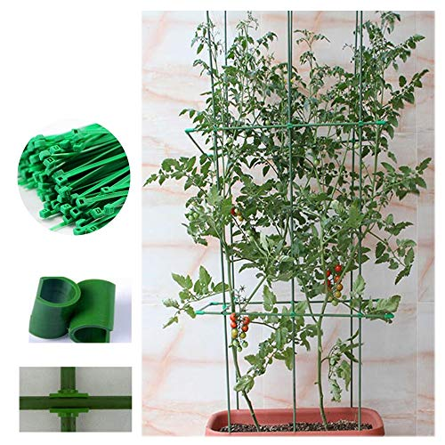 (SOULOS Trellis Climbing Plants Pillar Plastic Flower Pot Holder, Roses Pots Supports Leaf Shape Potted Plant Fixing Support Obstacle Frame Patio Fence (Excluding Potted Plants),B,60cm)