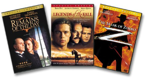 Anthony Hopkins Giftset (The Remains of the Day / Legends of the Fall / The Mask of Zorro)