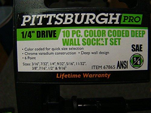 Pittsburgh Pro 10pc 1/4 Drive Sockets&10pc 1/2 Drive Impact