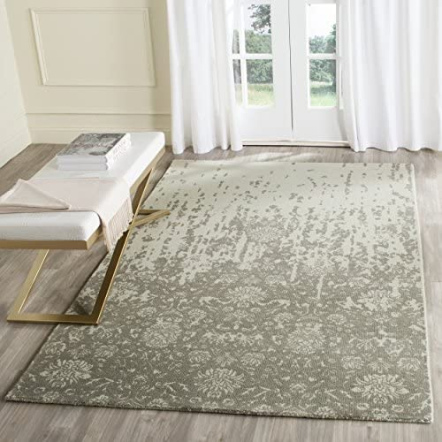 Safavieh Restoration Vintage Collection RVT104D Handmade Light Sage and Grey Wool Area Rug 8' x 10'