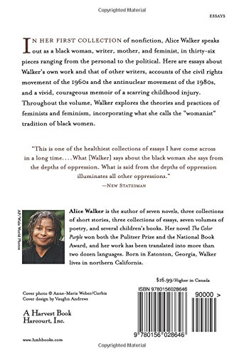 in search of our mothers gardens w ist prose alice walker  in search of our mothers gardens w ist prose alice walker 9780156028646 com books