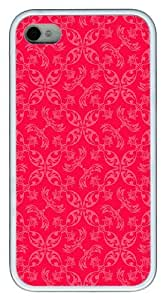 IMARTCASE iPhone 4S Case, Pink Paisley Pattern Case for Apple iPhone 4S/5 TPU - White