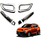 Auto Pearl Car Chrome Door Handle Latch Cover for Mahindra KUV 100 (Set of 4)