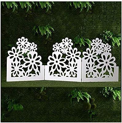 ZHANWEI Valla de jardín Bordura de jardín Interior Al Aire Libre Paisaje De Pie Protector Decoración De Bordes - Blanco 2 Estilos (Color : B, Size : 8 PCS): Amazon.es: Jardín