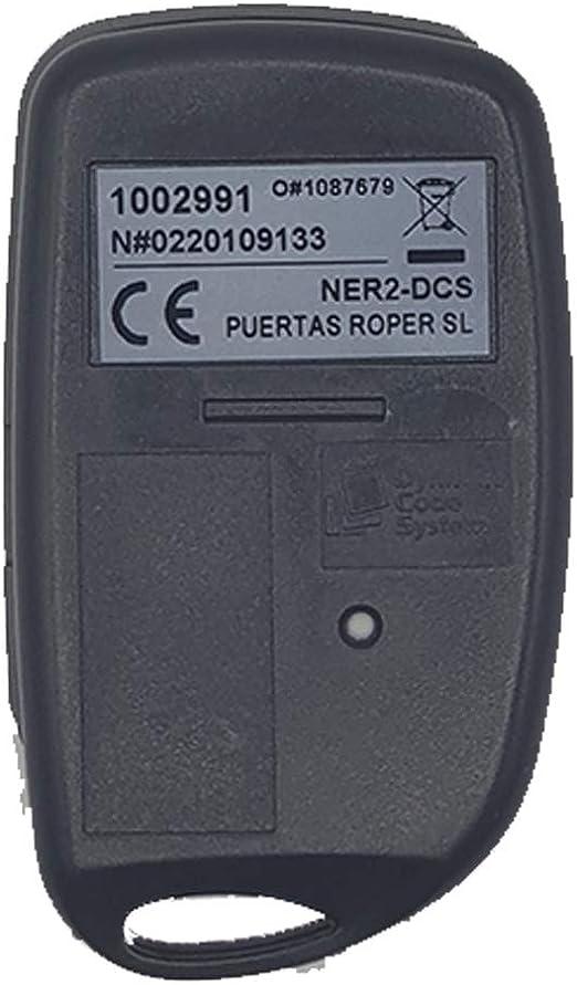 ROPER NER2DCS Mando Garaje Frecuencia 433 MHz V/álido Puertas de Garaje ROPER
