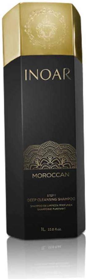 Inoar Marroquí Tratamiento De Keratina Limpieza Profunda Champú 1 L