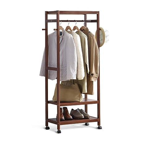 Shoe Rack Coat Hanger.Amazon Com Zhhl Wooden Coat Rack Solid Wood Bedroom Mobile