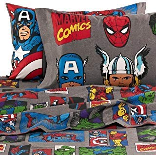Jay Franco Marvel Avengers Superheroes Full Sheet Set - 4 Piece Set Super Soft and Cozy Kid's Bedding Features Iron Man - Fade Resistant Polyester Microfiber Sheets (Official Marvel Product)