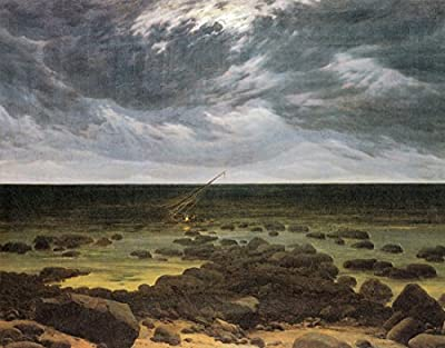 Seashore with Shipwreck by Moonlight by Caspar David Friedrich. 100% Hand Painted. Oil On Canvas. Reproduction. (Unframed and Unstretched).
