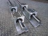 2x SBR30--1500mm 30mm Fully Supported Linear Rail + 4 SBR30UU BlockbEARING