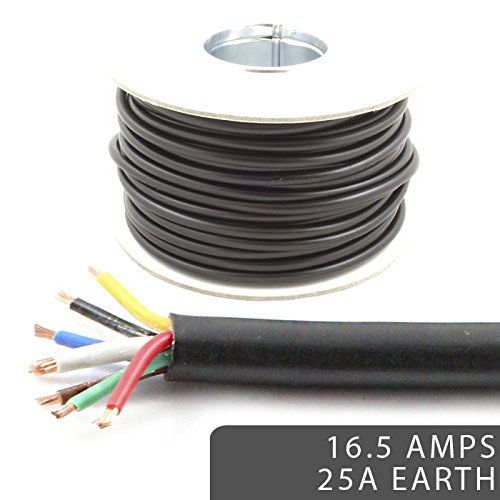 7 Core Cable 12v 24v Thin Wall Wire *16.5 AMP Rated with 25 AMP Earth* Trailer / Caravan LED Lights (10M) Automarine Cables