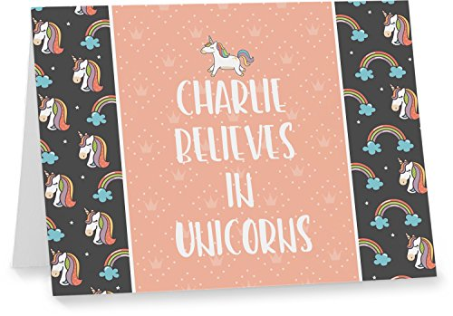 Unicorns Notecards (Personalized) by RNK Shops