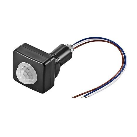 ONEVER Interruptor infrarrojo del cuerpo del sensor de movimiento PIR sensor de iluminación Detector de pared