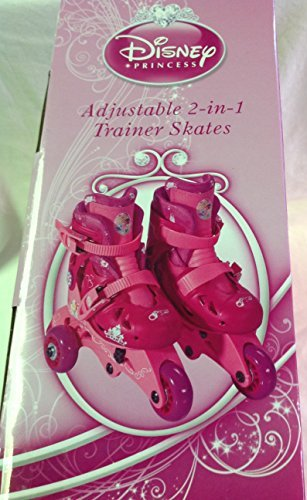 Disney Princess Adjustable 2-in-1 Trainer Skates, Sizes J6-J9 - 161151