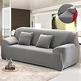 Bluecookies Stretch Arm Elastic Sofa Slipcover, Grey