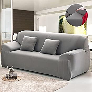 Exceptional Bluecookies Stretch Arm Elastic Sofa Slipcover, Grey