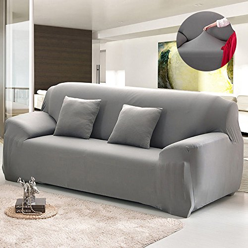 Bluecookies Stretch Arm Elastic Sofa Slipcover, Grey (Couch Slip Covers)