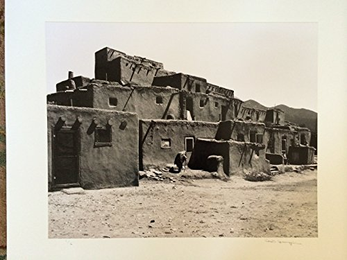 (Chuck Henningsen Original Silver Print Taos Pueblo, Taos, New Mexico, 1980)