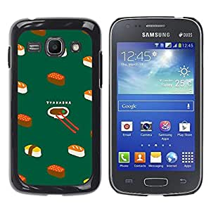 Dragon Case - FOR Samsung Galaxy Ace 3 - Delicious sushi - Caja protectora de pl??stico duro de la cubierta Dise?¡Ào Slim Fit