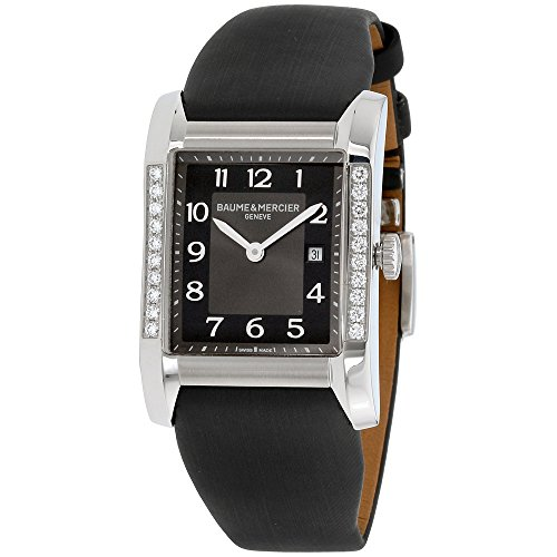 Baume Mercier Women's 10022 Hampton Ladies Black Satin Strap Diamond Watch