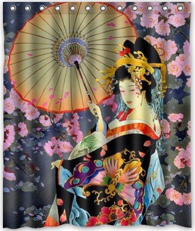 60quotw X 72quoth Japanese Art Geisha Girl Psychedelic