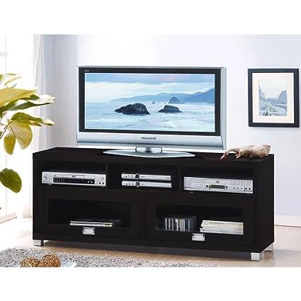Amazon Com Techni Mobili Durbin Cappuccino Tv Stand For Tvs Up To