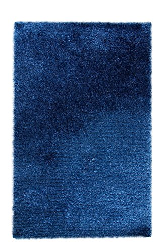 Dynamic Rugs Shag Rectangle Area Rug 3'x5' in Denim Color From Forte Collection (Forte Denim Del)