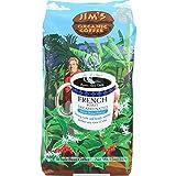 Jim's Organic Coffee French Roast Decaffeinated Whole Bean -- 12 oz