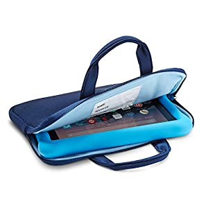 NuPro Zipper Sleeve for Fire Kids Edition Tablets, Navy/Blue