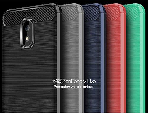 Funda ASUS ZenFone V Live,Funda Fibra de carbono Alta Calidad Anti-Rasguño y Resistente Huellas Dactilares Totalmente Protectora Caso de Cuero Cover Case Adecuado para el ASUS ZenFone V Live D