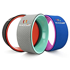 """Wacces Yoga Wheel 13"""" for Stretching, Comfortable Support for Yoga Poses and Backbends, Improving Flexibility and Balance, Back Opener, Relive Back Aches"""