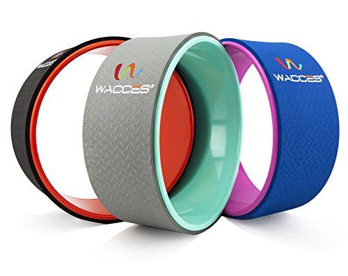 "Wacces Yoga Wheel 13"" for Stretching, Comfortable Support for Yoga Poses and Backbends, Improving Flexibility and Balance, Back Opener, Relive Back aches"