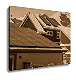 Ashley Canvas Solar Panels On Many Rooftops Proving Cheap Renewable Electricity For Each Of, Wall Art Home Decor, Ready to Hang, Sepia, 16x20, AG6322090