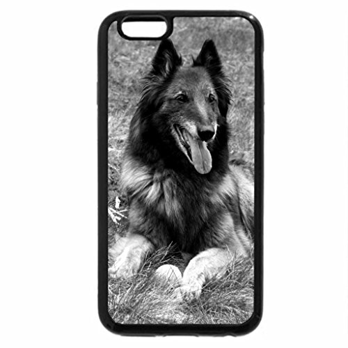 iPhone 6S Case, iPhone 6 Case (Black & White) - Shepherd Dog