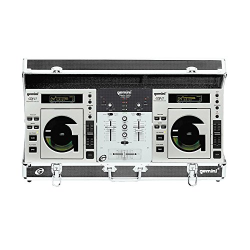 Gemini Disc O Mix 4.0 Professional Table-Top CD Turntable DJ Package