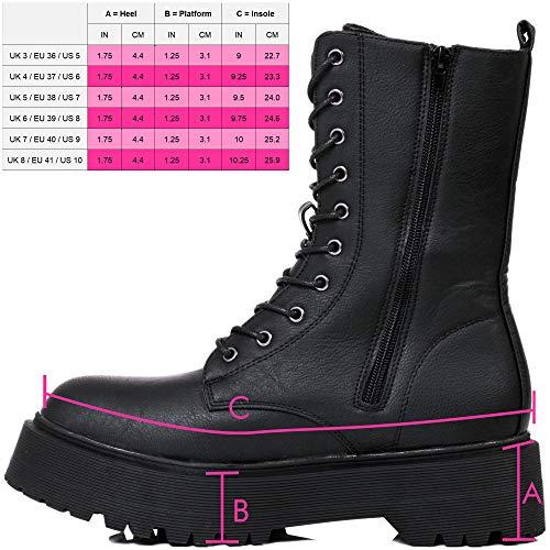 Mujer Haut Negro Cordone Sintético Cuero Botines Chelsea Ashbeck Boots Spylovebuy Planos H5fqU